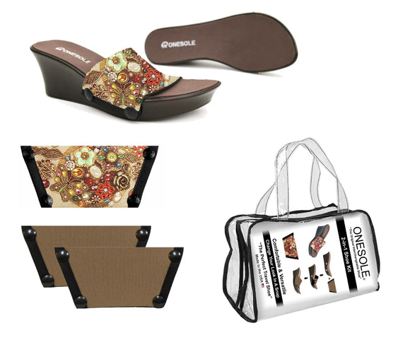 *** A Resort Travel  Shoe Kit Elegance Cafe