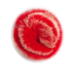 Embellishments - Red/Cream Faux Fur