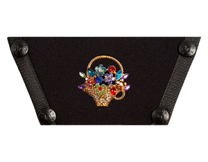 Jeweled Flower Basket
