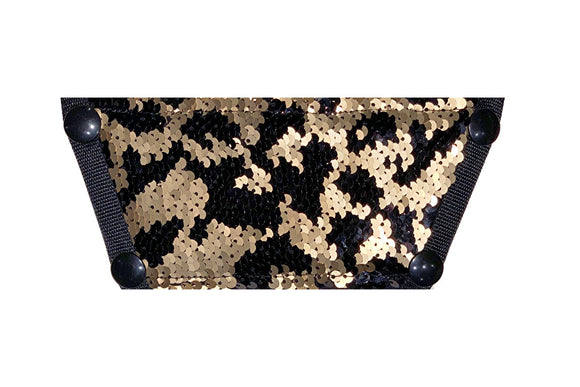 *****NEW*** Sequin Top - Black and Gold Leopard
