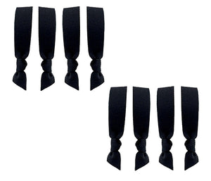 *Neoprene Hair Ties - Black 8 Pack