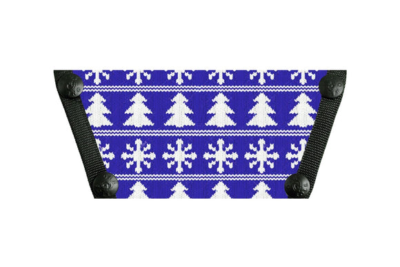 Holiday Sweater Blue Snowflakes