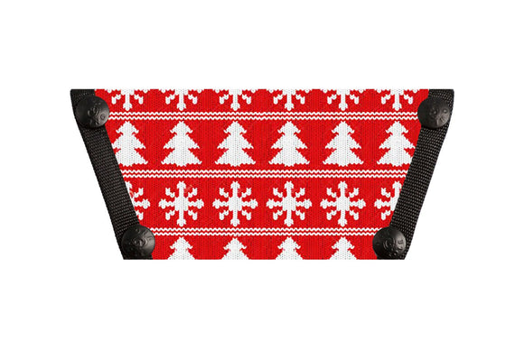 Holiday Sweater Red Snowflakes