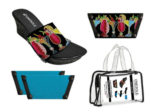** Casual Eve Wedge 5 O'clock Somewhere/Turquoise Travel Kit