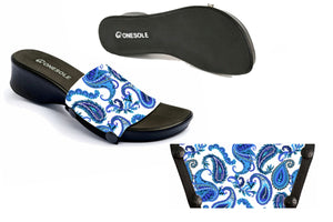 * NEW * Leisure Black Blue Paisley Travel Kit 5-13
