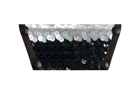 Sequin Top - Silver Pearl and Black