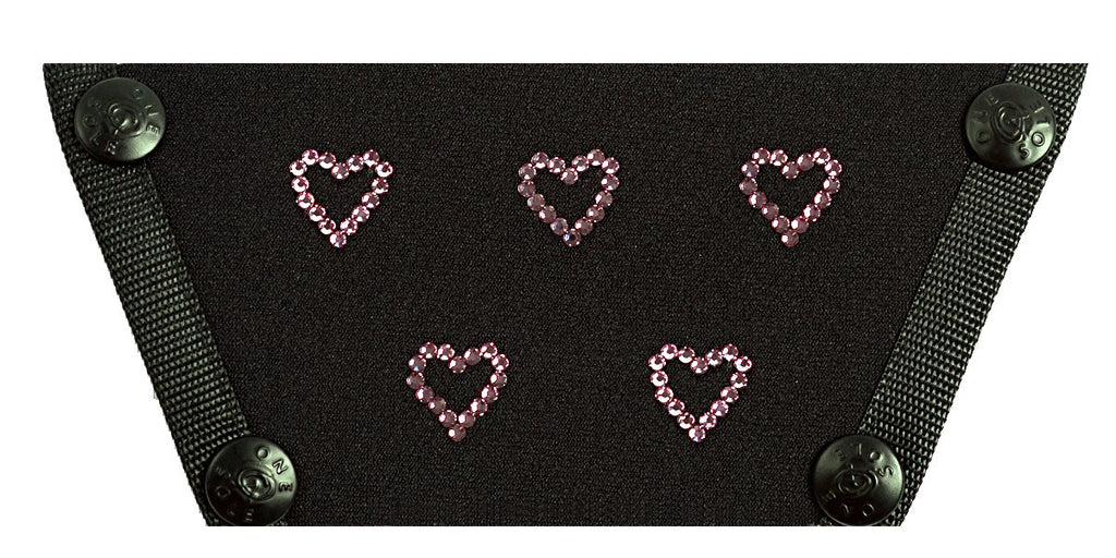 Crystal Pink Hearts