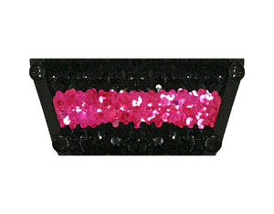 Sequin Top - Black and Pink
