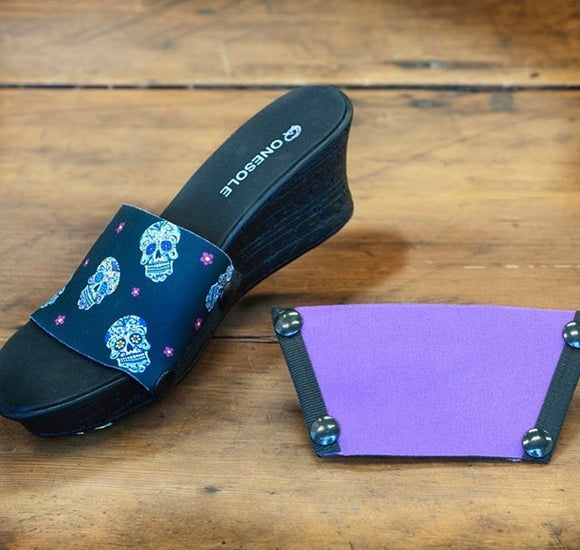 ****A Halloween sugar skull and mauve shoe set