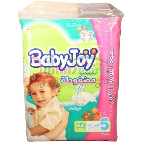 Babyjoy Diapers Baby Giant Size 5 Junior 66 Pieces
