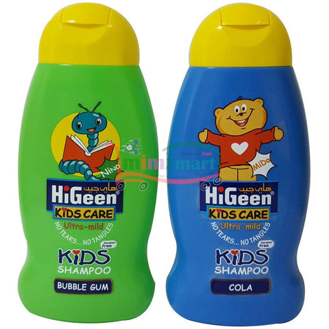 Higeen Kids Shampoo 250ml Cola or Bubble Gum