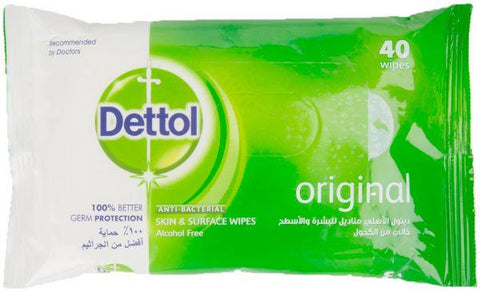 Dettol Antibacterial Wipes 40 Wipes