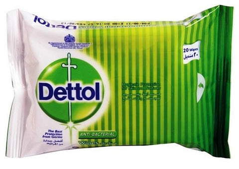 Dettol Antibacterial Wipes 20 Wipes