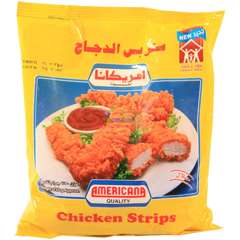 Americana Chicken Strips 750gm Plain or Hot