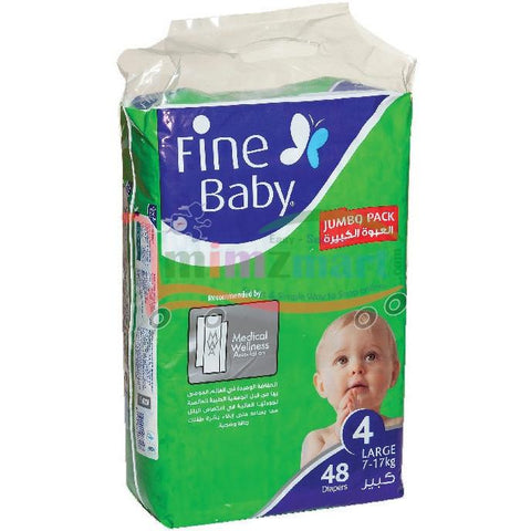 Fine Baby Diaper 4 Large 7-17 Kilo 48 Diapers