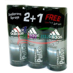Adidas Deo Spray 150 Ml (2+1 Free) - mimzmart.com
