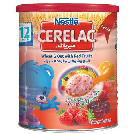 Cerelac wheat oats and red fruit Nestle  400 grams