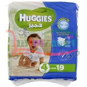 Huggies 4 7 - 18 Kg Large 19 Diapers