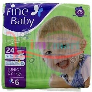 Fine Baby Junior 6 22 + Kgs 24 Diapers