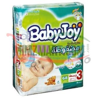 Babyjoy Medium Jumbo-3 Pack 68 Pieces