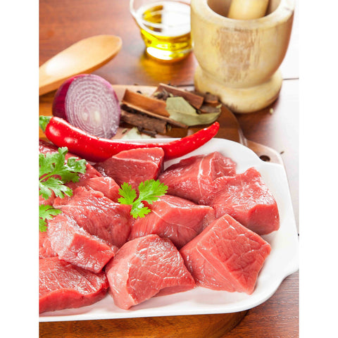 Beef Cubes Fresh 500 Gm