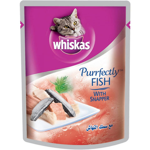 Whiskas Pouch Perfectly Fish with Snapper 85 Gm