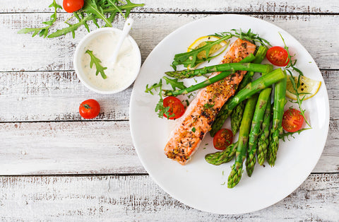 Salmon, Asparagus and Tomatoes PCOS recipe