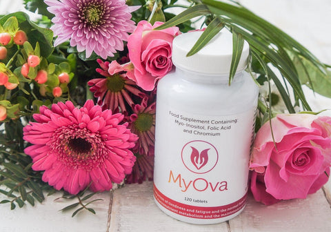 MyOva alternative supplement for PCOS with flowers