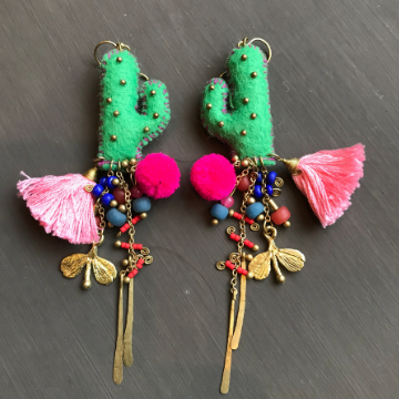 Handmade Cactus Earrings
