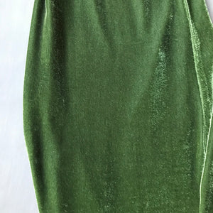 B. Mori Velvet Pant Chartreuse and Olive