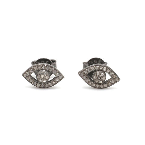 Evil Eye Pave Diamond Studs