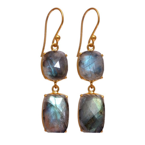 Gemma Labradorite Earrings