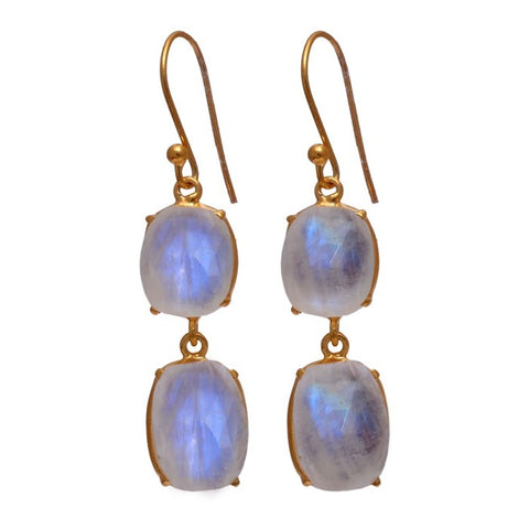 Gemma Moonstone Earrings