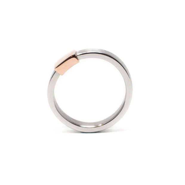 Women's Barrel Band with Rose Gold