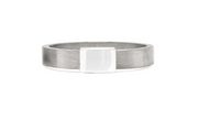 Women's Barrel Band with White Gold
