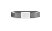 Women's White Gold Gunmetal Barrel Band