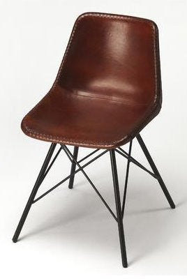 Prime Butler Inland Brown Leather Accent Chair 3673344 Onthecornerstone Fun Painted Chair Ideas Images Onthecornerstoneorg