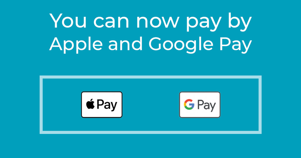 Checkout faster with Apple or Google Pay