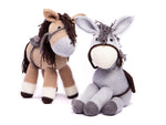 Dolly the Donkey & Bramble the Horse in Deramores Studio DK by Amanda Berry