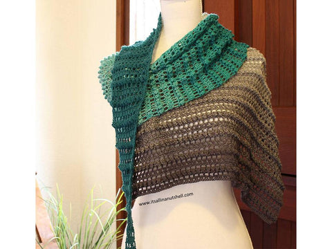 Sweet Caroline Shawl Crochet Kit and Pattern in Scheepjes Yarn