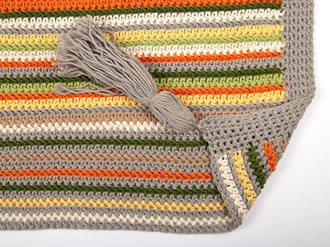 Happy Herringbone Blanket by Hannah Cross in Scheepjes Cahlista