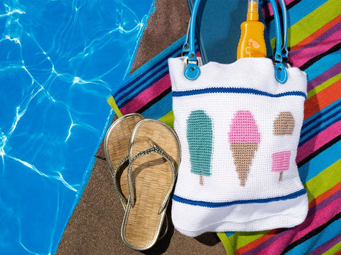 Ice Cream Tote Bag by Zoë Potrac in Deramores Studio DK