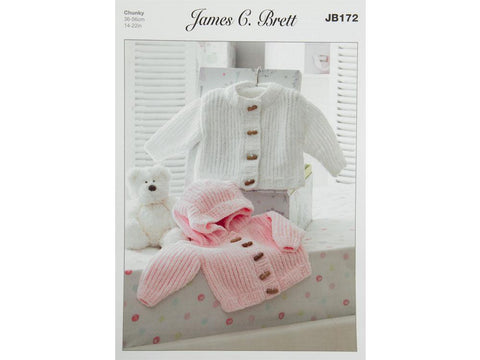 Jackets in James C. Brett Flutterby Chunky  (JB172) - Knitting Kit and Pattern