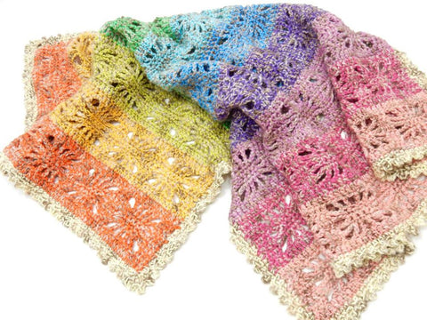 Rainbow Spirit Baby Blanket Crochet Kit and Pattern in Scheepjes Yarn
