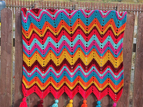 Retro Dazzler Blanket Crochet Kit and Pattern