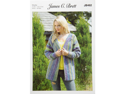 Jacket in James C. Brett Marble Chunky (JB462)