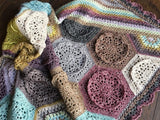 Dutch Rose Crochet Blanket by Cypress Textiles in Scheepjes Stone Washed
