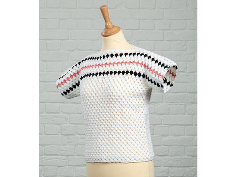 Granny Stripe Top Crochet Kit and Pattern