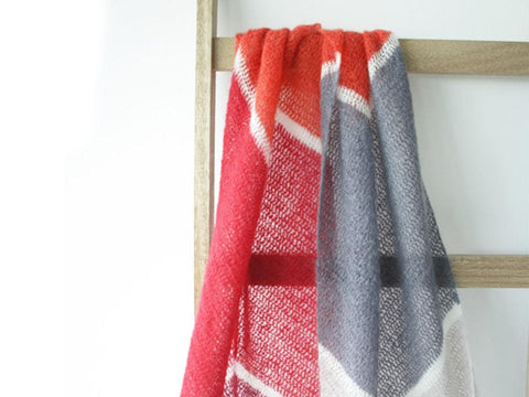 To the Point Shawl by Happy in Red in Scheepjes Mohair Rhythm