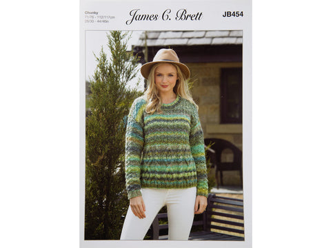 Sweater in James C Brett Marble Chunky - JB454